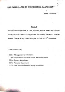 Notification Dated 19 May 2020