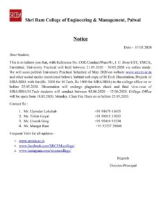 Notification Dated 17 May 2020