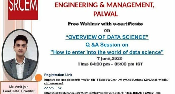 "Overview Of Data Science Q&A Session on ""How to enter into the world of Data Science"