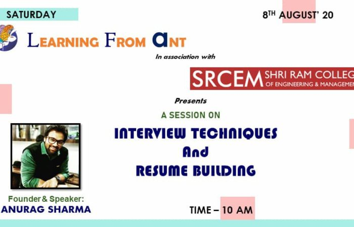 A Session on Interview Techniques and Resume Building