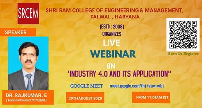 Webinar On Industry 4.0 and Its Application