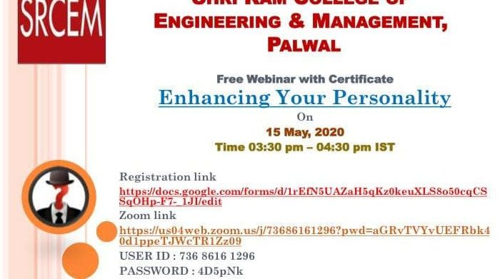 Free Webinar with Certificate | Enhancing Your Personality