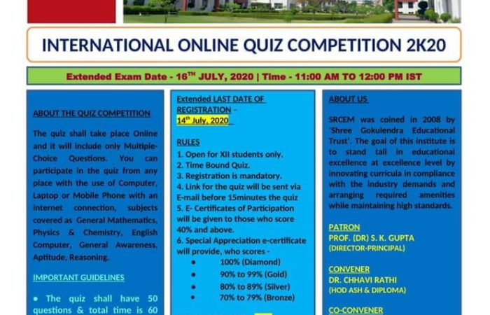 INTERNATIONAL ONLINE QUIZ COMPETITION 2K20